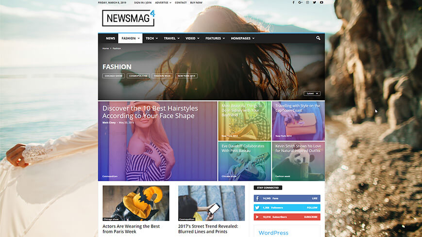 With Newsmag, you get control over every inch of your website.