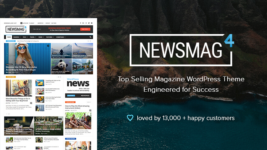 Newsmag makes news and magazine sites look so amazing!