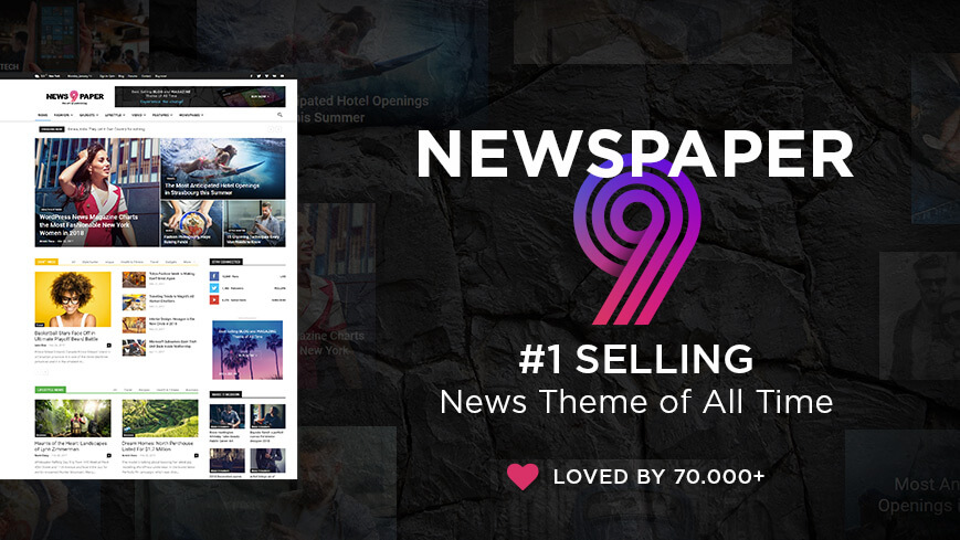 Newspaper theme is a perfect choice if you want to create a news site, or any kind of website.