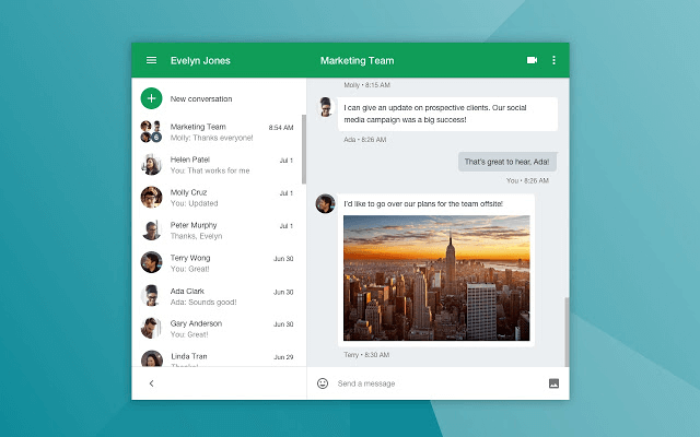 A great tool to communicate with your team is Hangouts