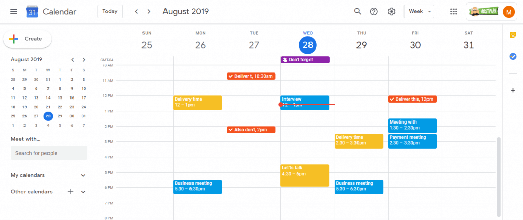 One of the tools that will help your business is Google Calendar