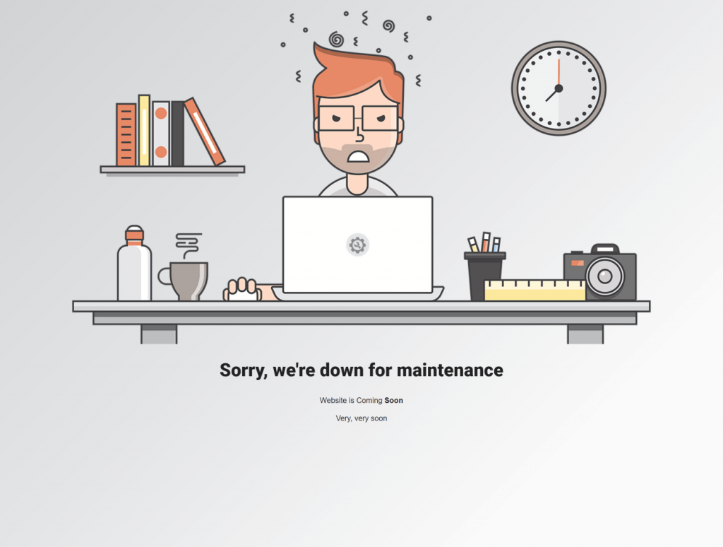 Check if your site is down under maintenance