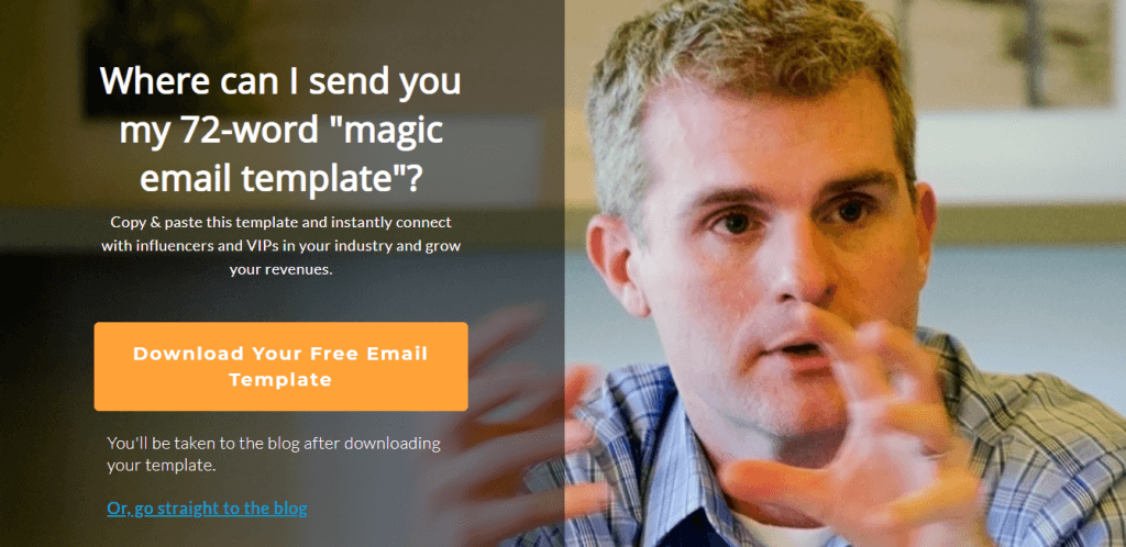 Email templates are a great way of getting leads
