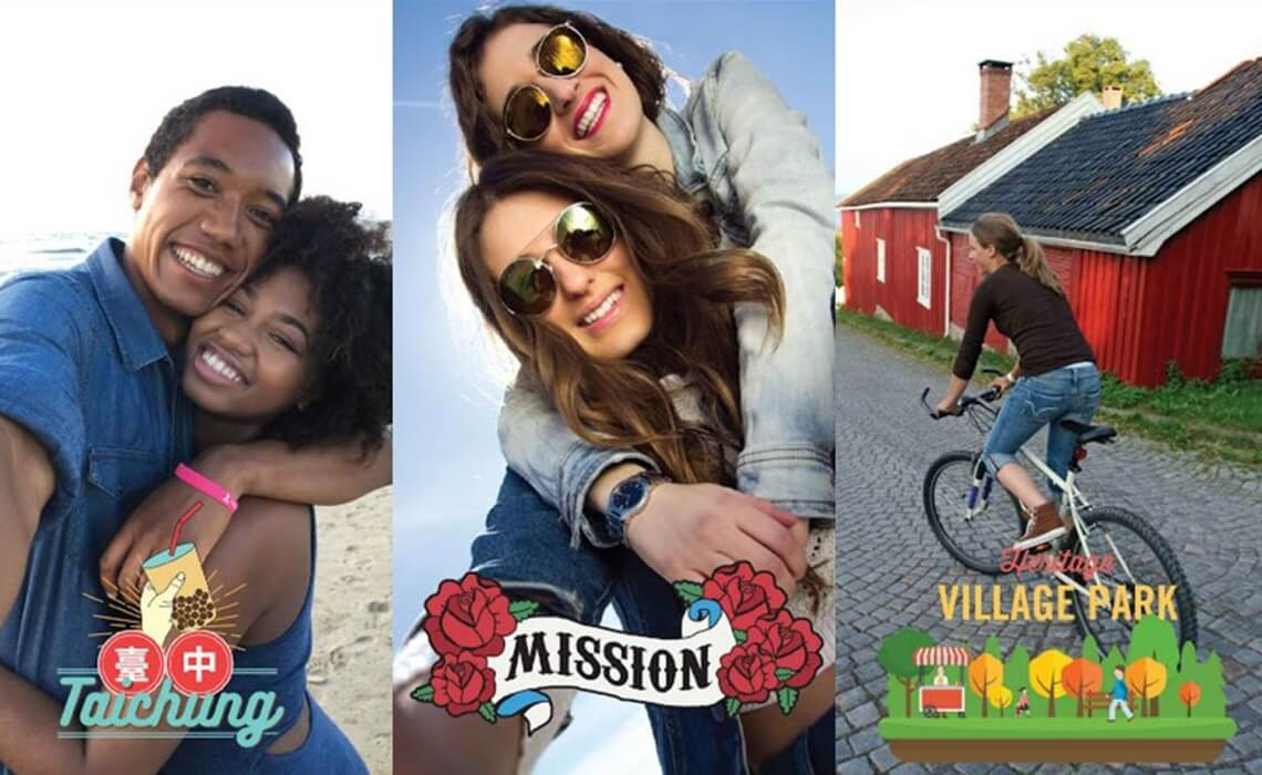 Sponsored Geofilters allow users to add a filter and overlay image to their pictures to show where they are, what event they are attending, or what business establishment they are visiting.
