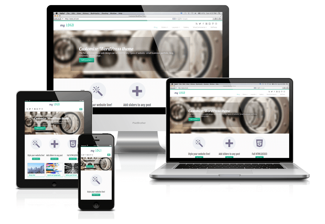 Make sure to find a WordPress Theme that is 100% responsive so that it looks great on any device.